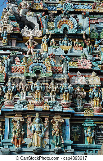 Sri Ranganathaswamy Temple (Srirangam) - is world heritage in Southern India.It is one of the largest religious complexes in the world - csp4393617