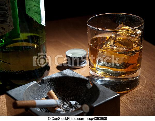 girl drinks whisky smokes - photo #3