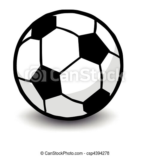 Soccer ball isolated on white  - csp4394278