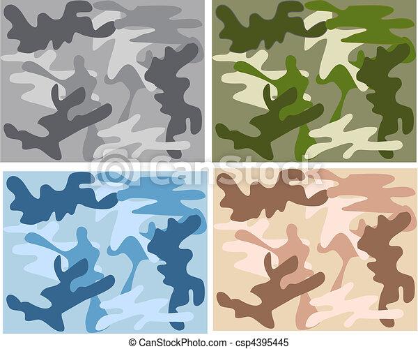 camouflage pattern - csp4395445