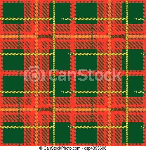 Traditional Scottish plaid seamless pattern - csp4395608