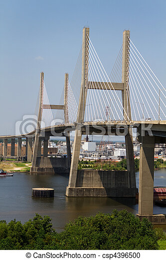 Suspension Bridge In Mobile Alabama - csp4396500