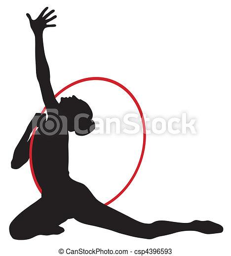 Rhythmic gymnastic - csp4396593