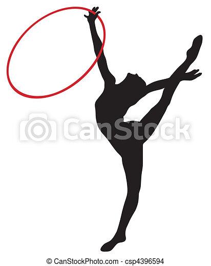 Vecteur eps de rythmique gymnastique r sum vecteur - Dessin de grs ...