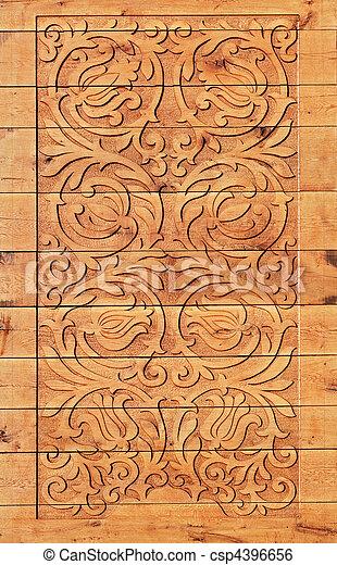 Wood carving - csp4396656