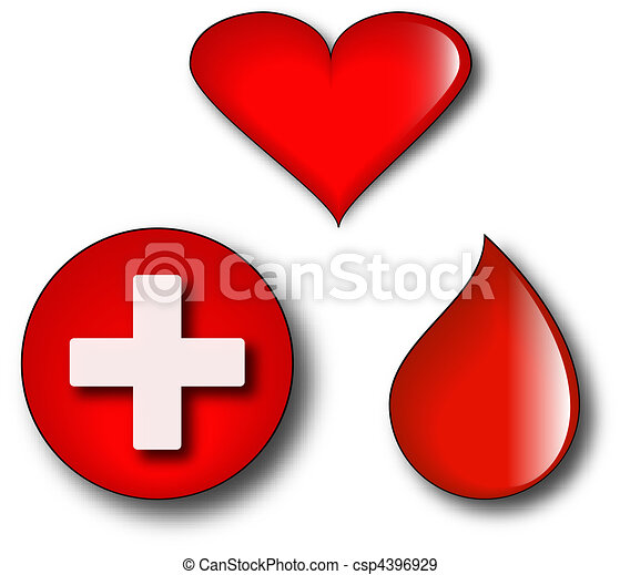 Concept logos of blood donation - csp4396929