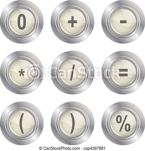 Mathematics buttons - csp4397881