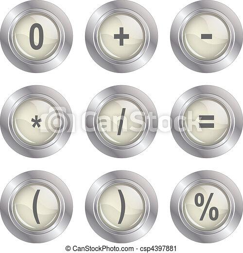 Mathematics buttons - csp4397881