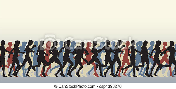 Mass runners - csp4398278