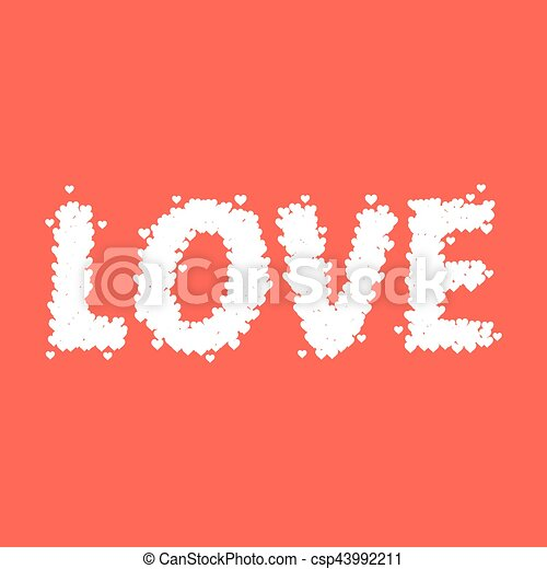 Love Word Made From Tiny Heart Symbol - csp43992211