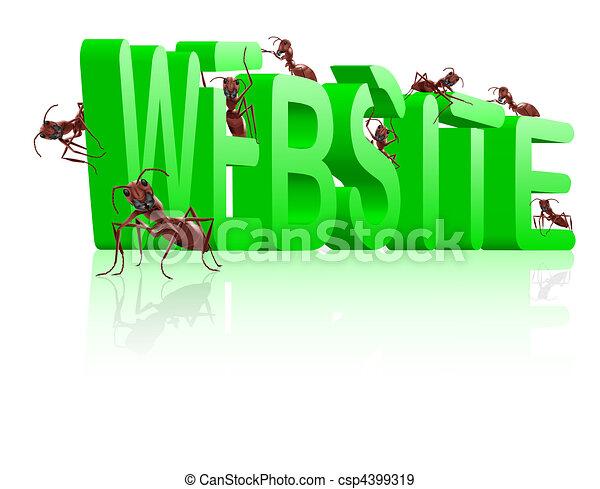 website under construction www development - csp4399319