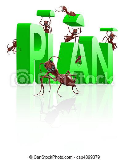 Stock Illustration Of Realizing Executing Plan Ants