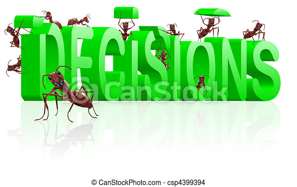 making decisions decide make choice - csp4399394