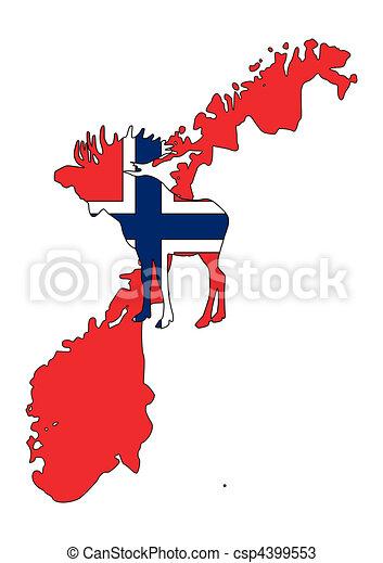 Norwegian moose - csp4399553