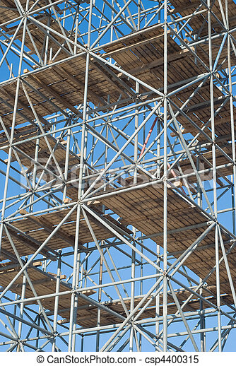 Scaffolding on a Construction Site - csp4400315