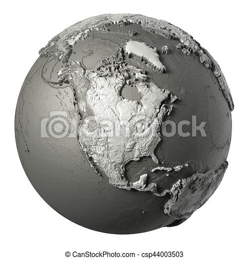 3D Globe North America - csp44003503