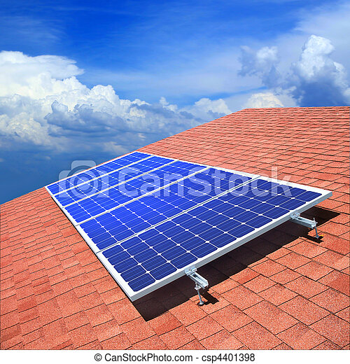 Solar panels on the roof - csp4401398