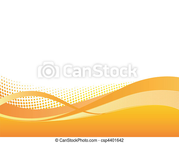 Dynamic orange swoosh background - csp4401642