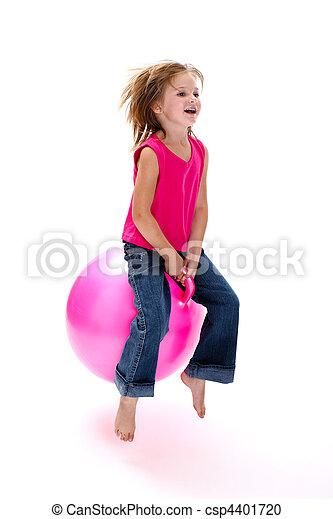 Girl bouncing - csp4401720