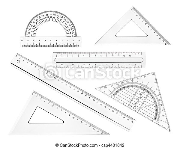 plastic ruler math geometry school education - csp4401842