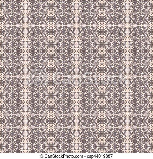 Beige background. Vintage card  on seamless wallpaper. - csp44019887