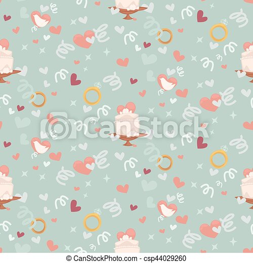 Wedding abstract seamless pattern in pastel soft colors. - csp44029260