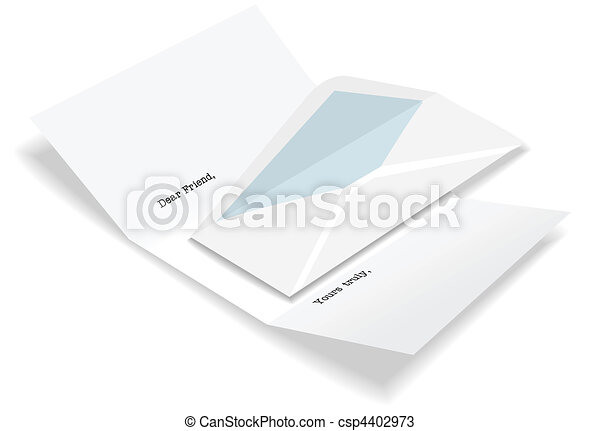Open letter envelope stationery - csp4402973