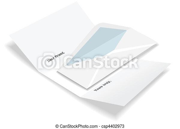 Open letter envelope stationery - csp4402973