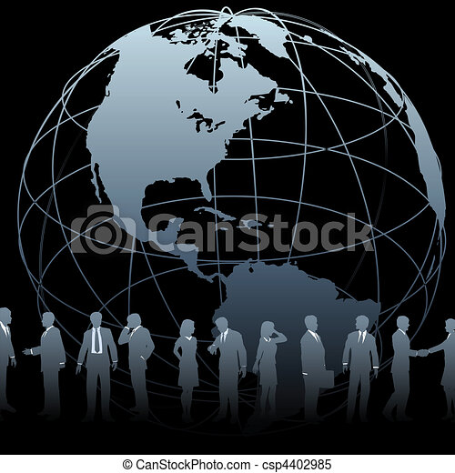 Global Business People Earth Globe - csp4402985