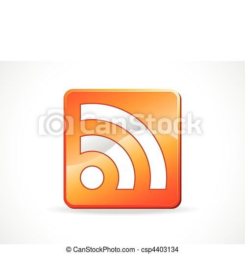abstract glossy feed icon - csp4403134