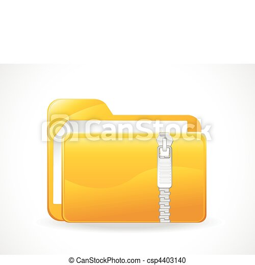 abstract glossy zipped folder  - csp4403140