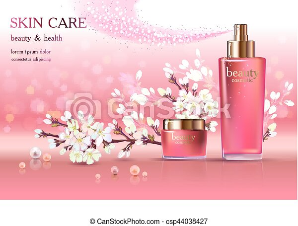 Vector Illustration of Skin Care Cosmetic - Beauty cosmetic ...