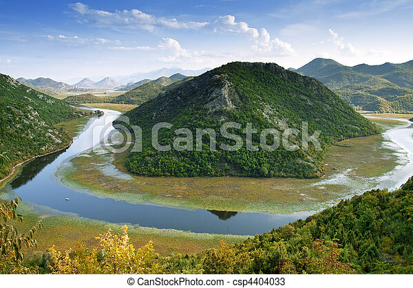 Skadar Lake from Montenegro - csp4404033