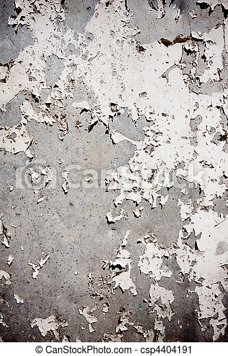 Grungy textured background with peeling wall - csp4404191