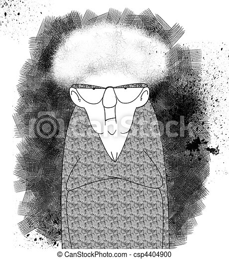 Exasperated Old Lady - csp4404900