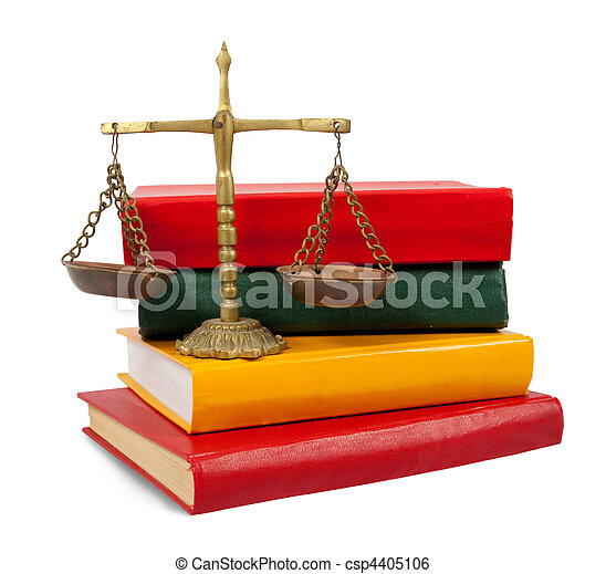 justice concept, book and scales of justice  - csp4405106