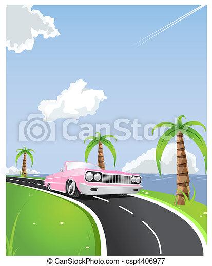 summer coastline ride - csp4406977