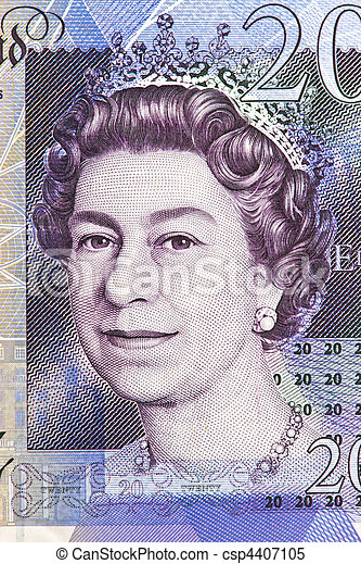 British pound notes. British pounds. Banknotes of the British currency. - csp4407105