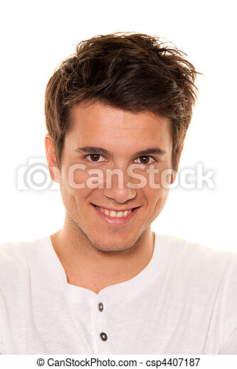 Young, nice man, friendly smile. Portrait - csp4407187