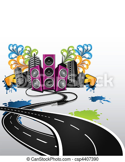 road to the party - csp4407390