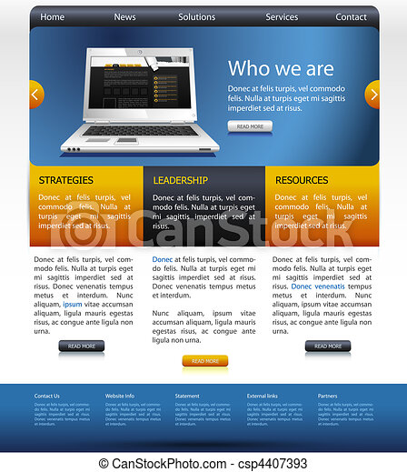 website design templete - csp4407393