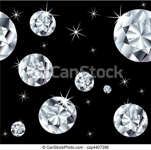 Set jewels on a seamless background. Vector - csp4407396