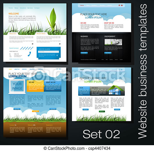 website business templates set 02 - csp4407434