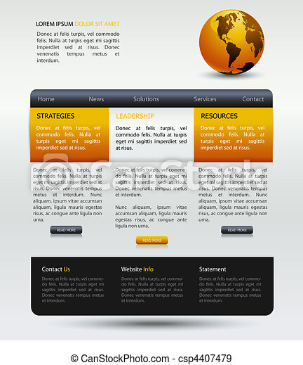 web design modern template - csp4407479