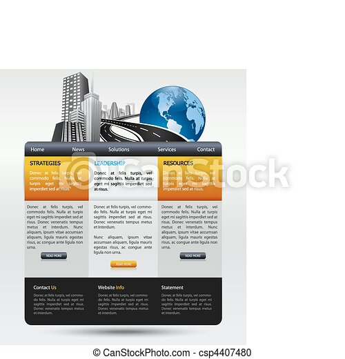 web design modern template - csp4407480