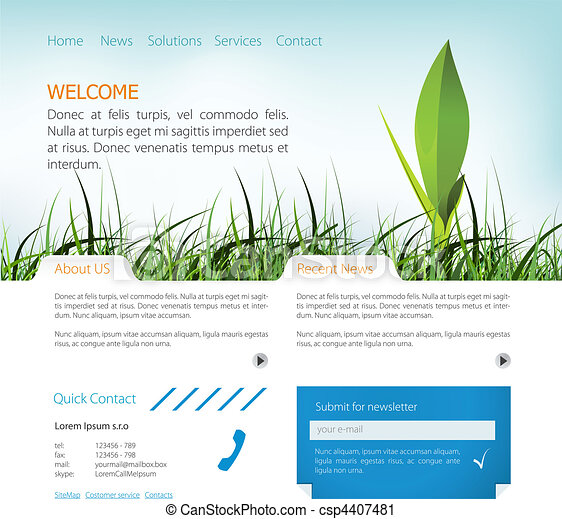 Web page layout - csp4407481