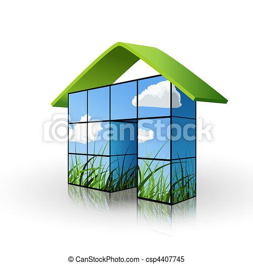 ecological house concept - csp4407745