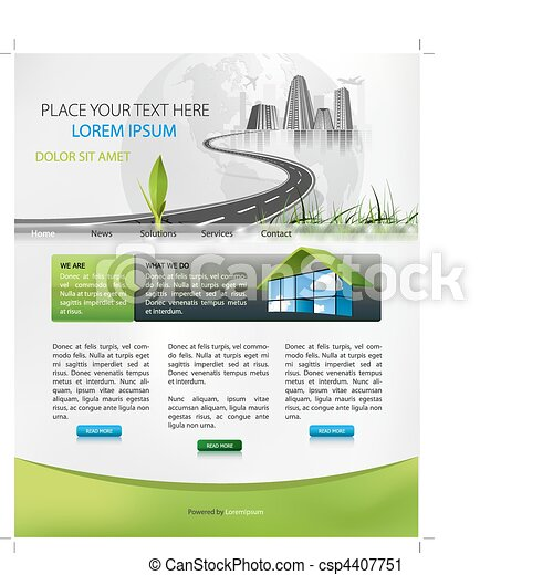 web page design - csp4407751