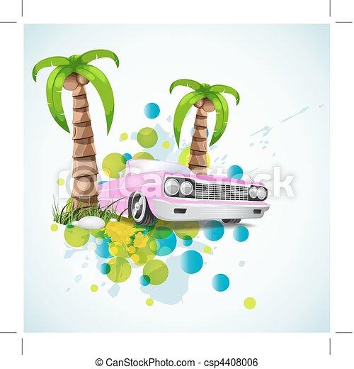 summer vacation stylish background - csp4408006