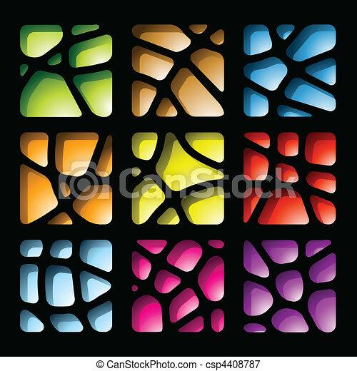Colorful Paper Cutouts - csp4408787